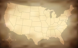 Grungy USA Map Stock Image