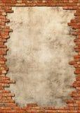 grungy vägg för tegelstenram Arkivfoton