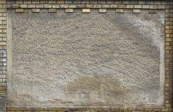 grungy vägg för tegelstenram royaltyfri fotografi