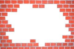 grungy vägg för tegelstenram arkivbilder