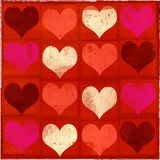 Grungy valentijnskaart royalty-vrije illustratie