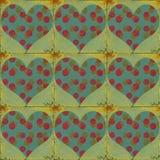Grungy valentijnskaart Stock Afbeeldingen