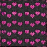 Grungy valentijnskaart Royalty-vrije Stock Afbeeldingen