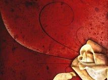 Grungy Valentijnskaart nam toe Royalty-vrije Stock Fotografie