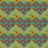 Grungy valentine Stock Images