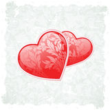 Grungy Valentine's Day Background Royalty Free Stock Photography