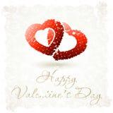 Grungy Valentine's Day Background Stock Photo