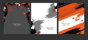 Grungy vector backgrounds set Royalty Free Stock Photography