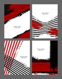Grungy vector backgrounds set Stock Image
