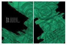 Grungy vector backgrounds set Stock Photos