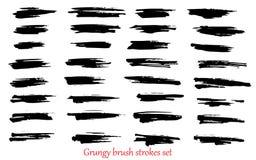 Grungy vector brush strokes Royalty Free Stock Photos