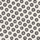 Grungy vector pattern with scattered circle shapes. Seamless texture abstract background print, fabric, textile. Card, wrapping paper, wallpaper royalty free illustration