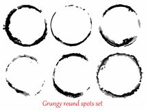 Grungy vector spots set Stock Images