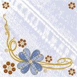 Grungy vectorachtergrond van denim bloemenjeans. stock illustratie