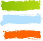 Grungy veelkleurige banners stock illustratie