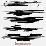 Grungy vektoruppsättning stock illustrationer