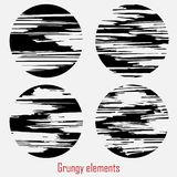 Grungy vektoruppsättning royaltyfri illustrationer