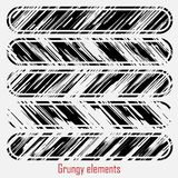 Grungy vektoruppsättning vektor illustrationer