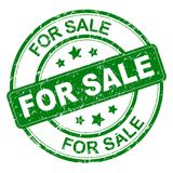 Grungy verkoopzegel royalty-vrije illustratie