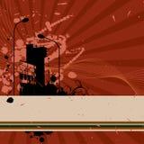 Grungy vierkante stedelijke elementen als achtergrond vector illustratie