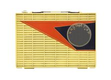 Grungy Vintage 1950's Googie Radio Royalty Free Stock Image