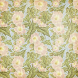 Grungy vintage Antique Pink Flower Pattern. Grungy vintique vintage pastel pink and green flower pattern - seamless and perfectly repeating Stock Images
