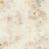 Grungy vintage floral background. Grungy antique vintage floral background with flowers around frame and blank in middle Royalty Free Stock Photos