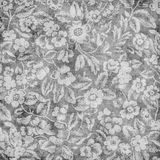 Grungy vintage floral damask scrapbook background Royalty Free Stock Photos