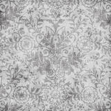 Grungy vintage floral damask scrapbook background Royalty Free Stock Image
