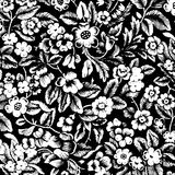 Grungy vintage floral damask scrapbook background stock illustration