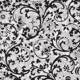 Grungy vintage floral damask scrapbook background stock images