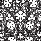 Grungy vintage floral damask scrapbook background. Illustration Royalty Free Stock Photo