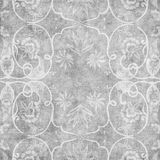 Grungy vintage floral damask scrapbook background Royalty Free Stock Photography