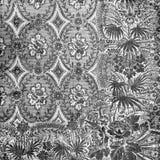 Grungy Vintage Floral Damask Scrapbook Background. A grungy vintage floral damask scrapbook template or background stock photo