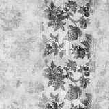 Grungy vintage floral scrapbook background Stock Photo