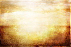 Grungy vintage image of sea and sky in sunlight Stock Images