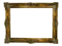 Grungy vintage picture frame. Antique picture frame, dirty and grungy, free copy and picture space Stock Photography