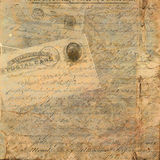 Grungy Vintage Postcard Text Background Stock Image