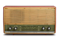Grungy vintage radio (clipping path) Royalty Free Stock Photos