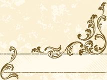 Grungy vintage sepia banner, horizontal Royalty Free Stock Images