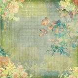 Grungy vintage shabby floral design Royalty Free Stock Photos