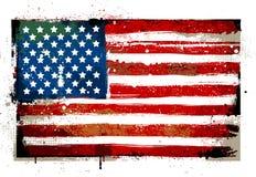 Grungy vlag van de V.S. Stock Foto