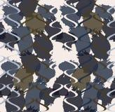 Grungy vlekken met golven royalty-vrije illustratie