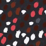Grungy vlekken roodbruin en wit op zwarte vector illustratie