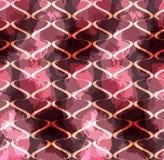 Grungy vlekkenrood met golven stock illustratie