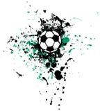 Grungy voetbalbal stock illustratie