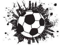 Grungy voetbalstad royalty-vrije illustratie