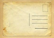 Grungy vykort för tappningskrynkla Arkivbilder