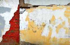 Grungy wall. With the cracks stock photo