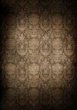 Grungy wall. Dark, grungy wall with Victorian wallpaper Royalty Free Stock Image